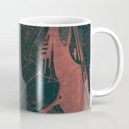 Montreal Map Red Coffee Mug