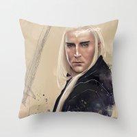 thranduil Throw Pillows featuring Thranduil by Wildzyria
