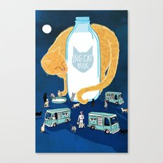 Big Cat Milk Canvas Print