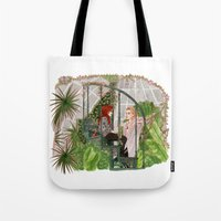 the mortal instruments Tote Bags featuring The Mortal Instruments by Naineuh