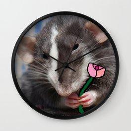 A rat's flower Wall Clock