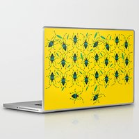 shield Laptop & iPad Skins featuring Shield Bugs by yellowstudiofreo
