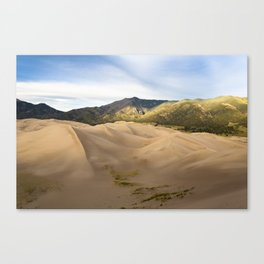 Great Sand Dunes Framed by the Sangre de Cristo Mountains Canvas Print