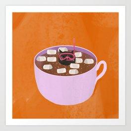 cocoa cat Art Print