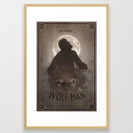 Horror Classics - The Wolf Man Framed Art Print
