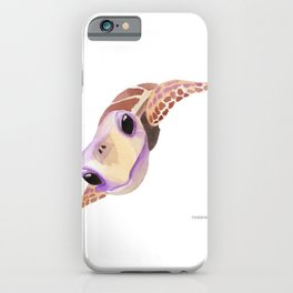 Turtle seafood gift reptile tanks iPhone Case