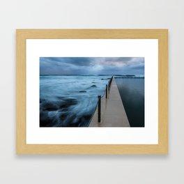 Water of Contrast  Framed Art Print