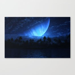Atoll (Nightfall) Canvas Print