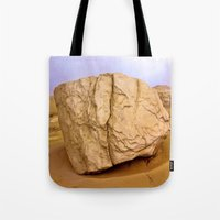 30 rock Tote Bags featuring THE ROCK by Bruce Stanfield