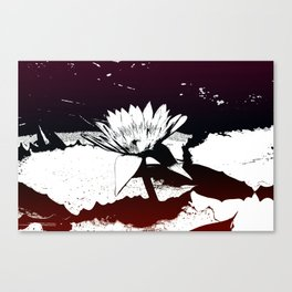 Stylized Water lily Canvas Print