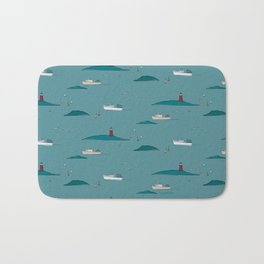 Lobstering in the Harbor Bath Mat