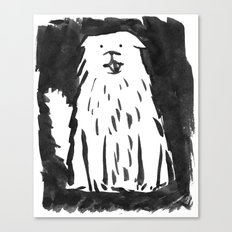 fluffy dog Canvas Print