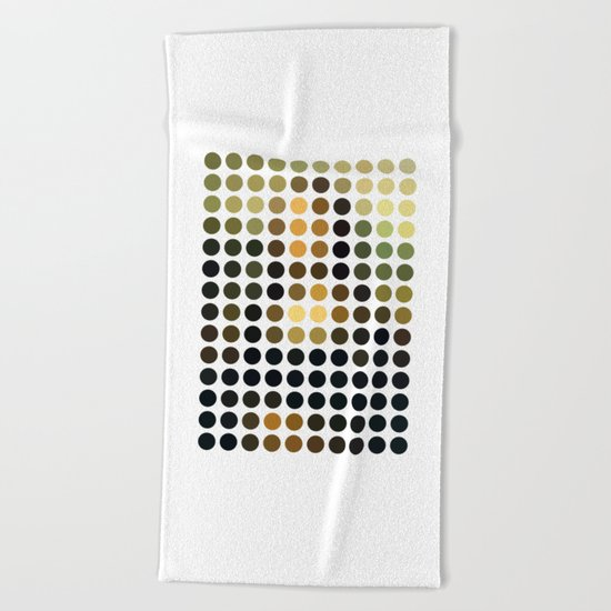 Mona Lisa Beach Towel
