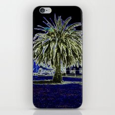 Magic night with Palm tree iPhone Skin