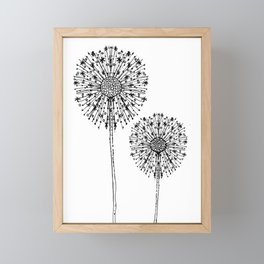 Flower drop 2 Framed Mini Art Print
