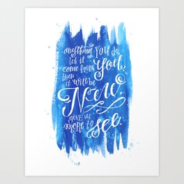 You Keep Moving On [Sunday In The Park With George] Art Print