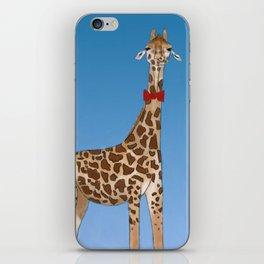 Giraffe Wearing Bowtie iPhone Skin
