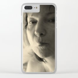 creating drama Clear iPhone Case