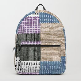 Primavera Mixed Pattern Backpack