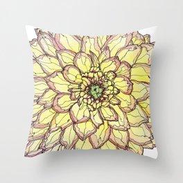 Yellow Flower Love Throw Pillow