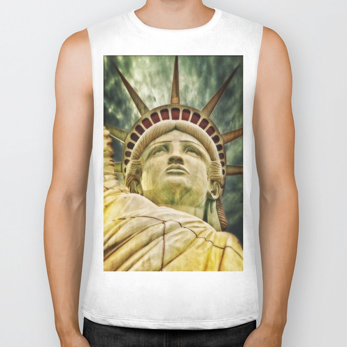 Statue of Liberty 4 Biker Tank
