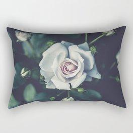 FLOWER - ROSE - WHITE Rectangular Pillow