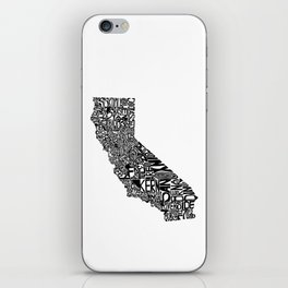 Typographic California iPhone Skin