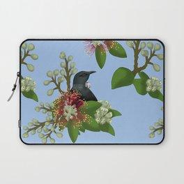 Tui in Pohutukawa Flowers Laptop Sleeve