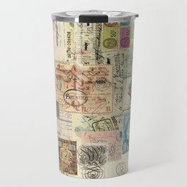 Quirky Documents pastel Patchwork Travel Mug