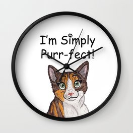 I'm Simply Purr-fect Wall Clock