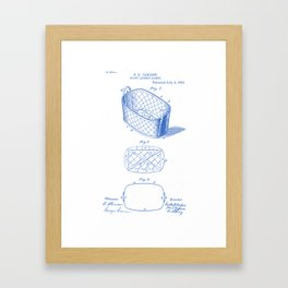 Splint Laundry Basket Vintage Patent Hand Drawing Framed Art Print