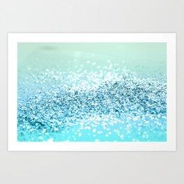 Seafoam Aqua Ocean MERMAID Girls Glitter #2 #shiny #decor #art #society6 Art Print