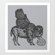 The Buffalo's Plea Art Print