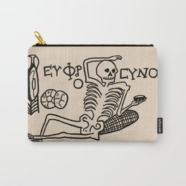 Be Cheerful, Live Well Skeleton Carry-All Pouch