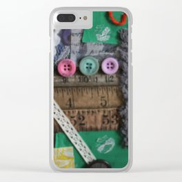 Mixed Media Abstract Clear iPhone Case