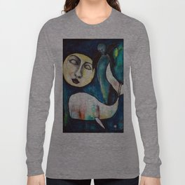 Whale & the Moon Long Sleeve T-shirt