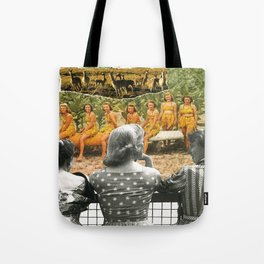 I Don't Know About You, But I Feel Like We're Always Being Watched Tote Bag