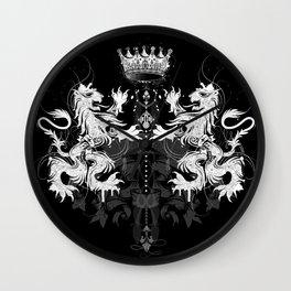 Heraldic coat of arms Wall Clock