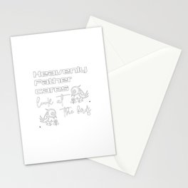 Christian Design - Heavenly Father Cares - Consider the Birds Stationery Cards