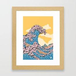 New Wave Great Wave Framed Art Print