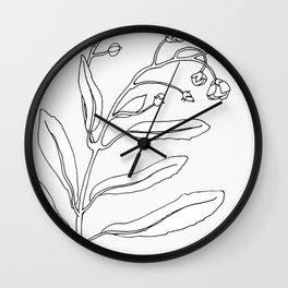 Minimal Bloom Wall Clock