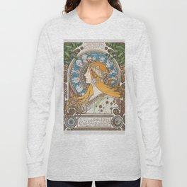 HD- Alphonse Mucha - Zodiac / HIGH DEFINITION Long Sleeve T-shirt