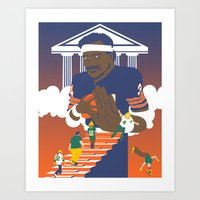 packers Art Prints featuring Sweetness Says No by Hawk Tawk TV