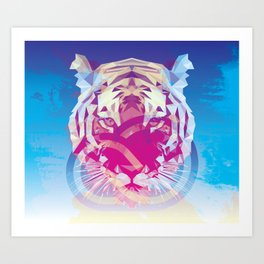 Creative Cloud Vector Tiger Art Print