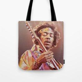 Jimi Hendrix Guitar God Tote Bag