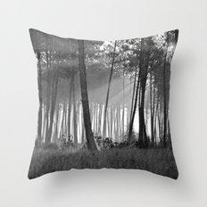 lumineuse brume Throw Pillow