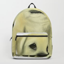 Chubby Puppy on a White Background Backpack
