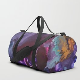 Expressive Flow 1 - Mixed Media Pain Duffle Bag