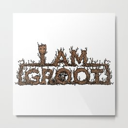 I am groott Metal Print