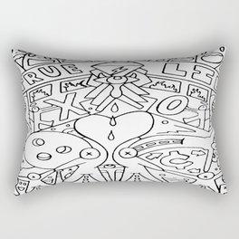 A Broken Divided Home Rectangular Pillow